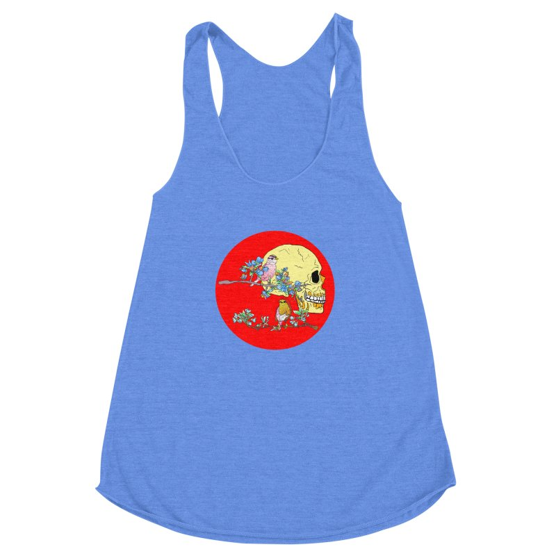 notice life before death Women's Racerback Triblend Tank by thebeewithwheels's Artist Shop