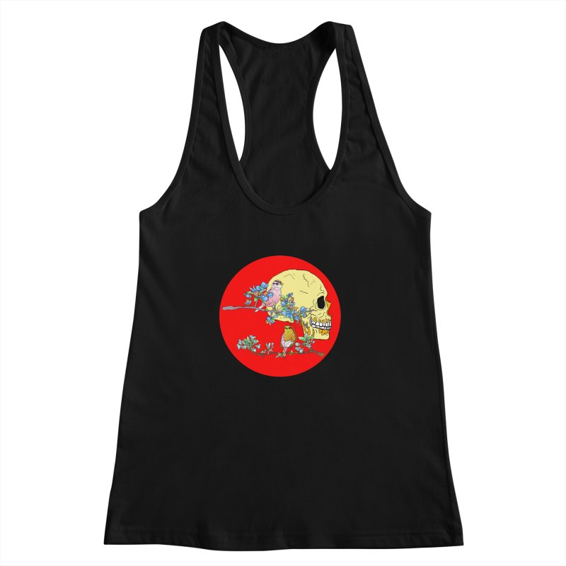 notice life before death Women's Racerback Tank by thebeewithwheels's Artist Shop