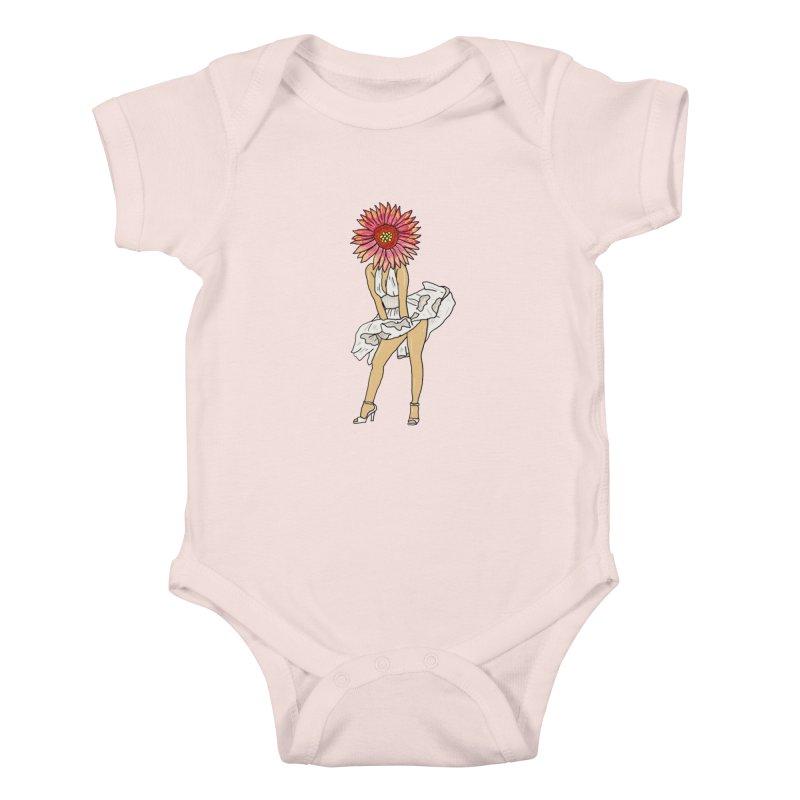 oooooooh pollen  Kids Baby Bodysuit by thebeewithwheels's Artist Shop
