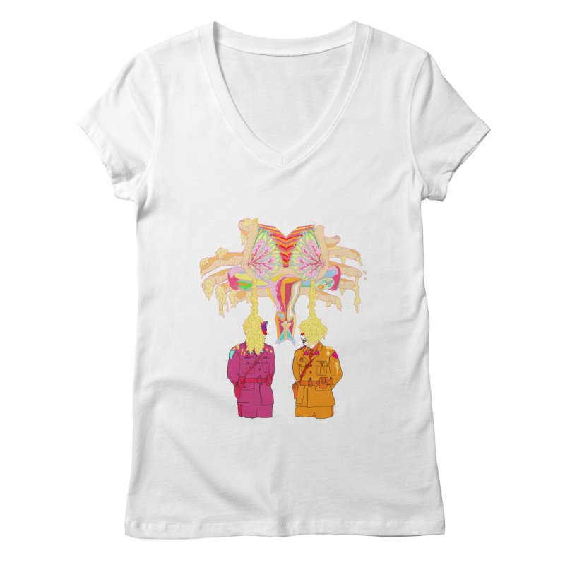 be proud of the power Women's V-Neck by thebeewithwheels's Artist Shop
