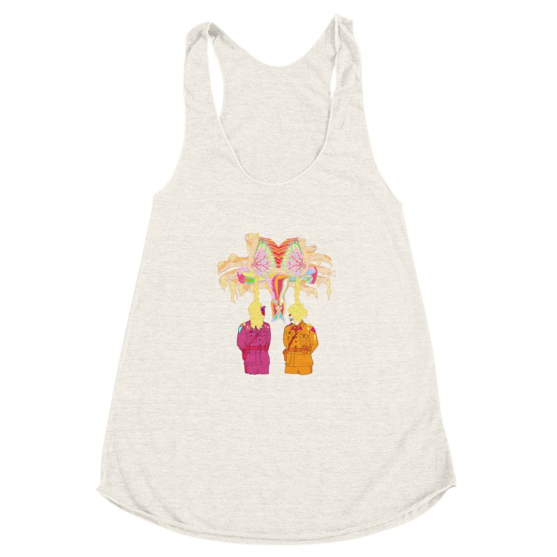 be proud of the power Women's Racerback Triblend Tank by thebeewithwheels's Artist Shop