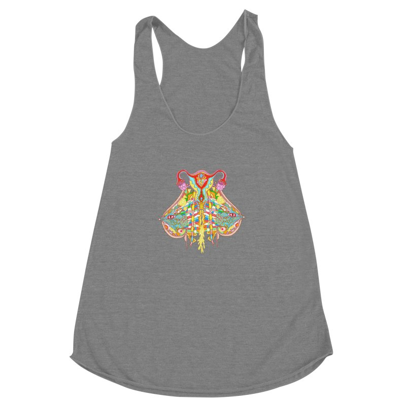 all natural power and glory Women's Racerback Triblend Tank by thebeewithwheels's Artist Shop