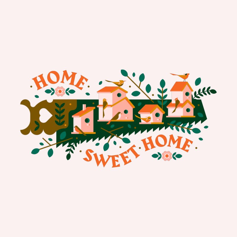 Home Sweet Home Men's T-Shirt by Brian Rau's Artist Shop