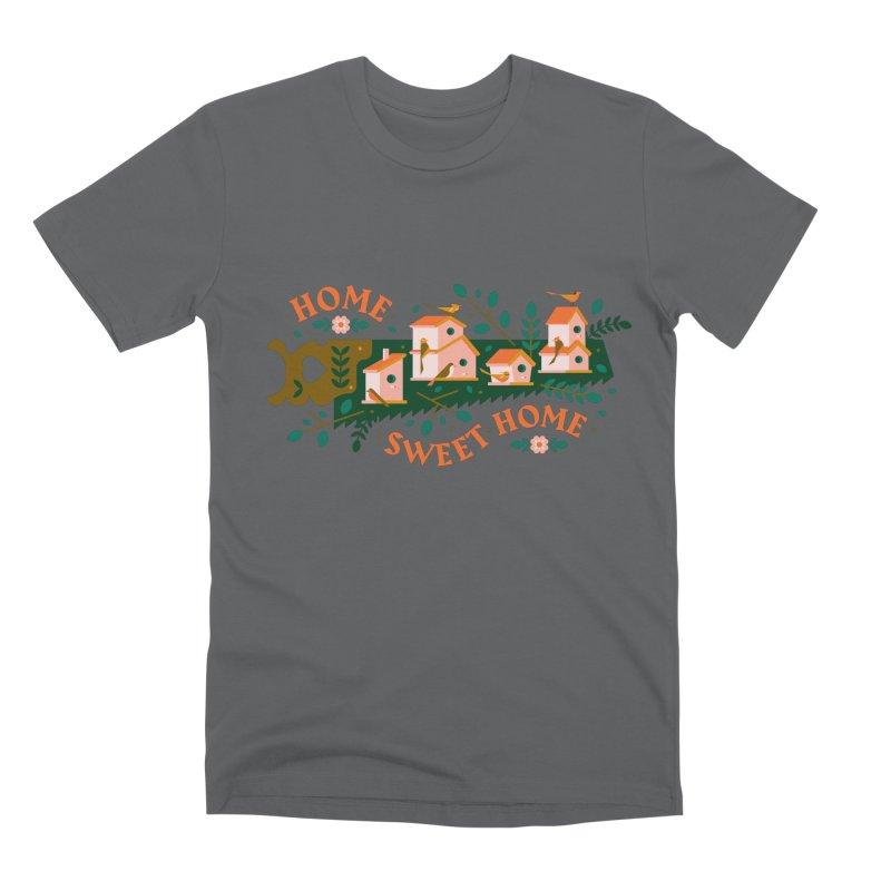 Home Sweet Home Men's Premium T-Shirt by Brian Rau's Artist Shop