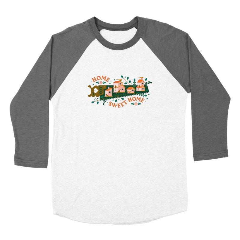 Home Sweet Home Women's Baseball Triblend Longsleeve T-Shirt by Brian Rau's Artist Shop