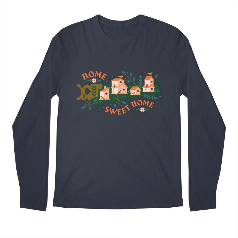 Home Sweet Home Men's Regular Longsleeve T-Shirt by Brian Rau's Artist Shop