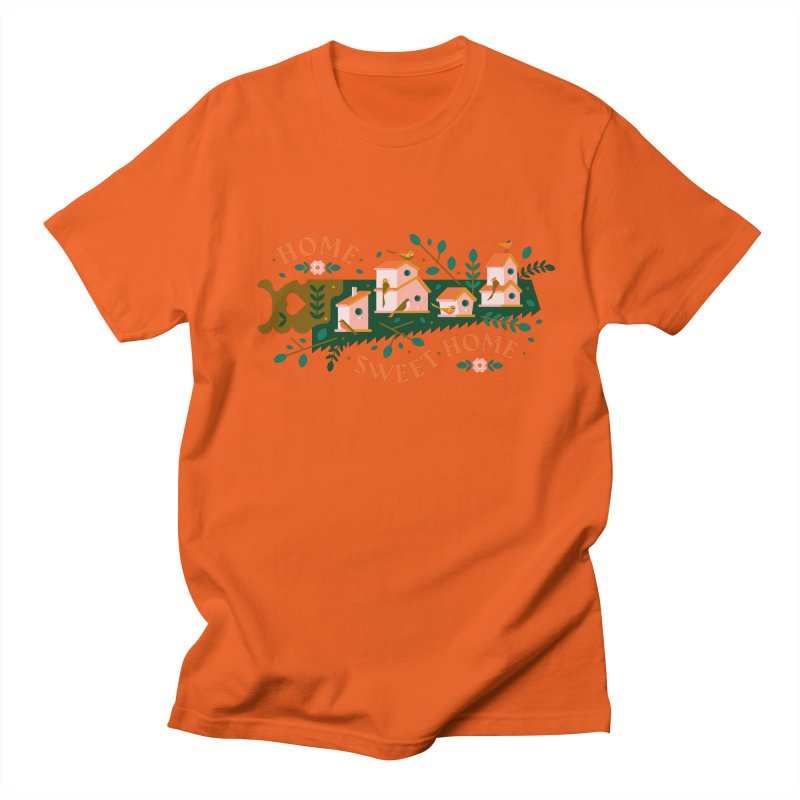 Home Sweet Home Men's Regular T-Shirt by Brian Rau's Artist Shop