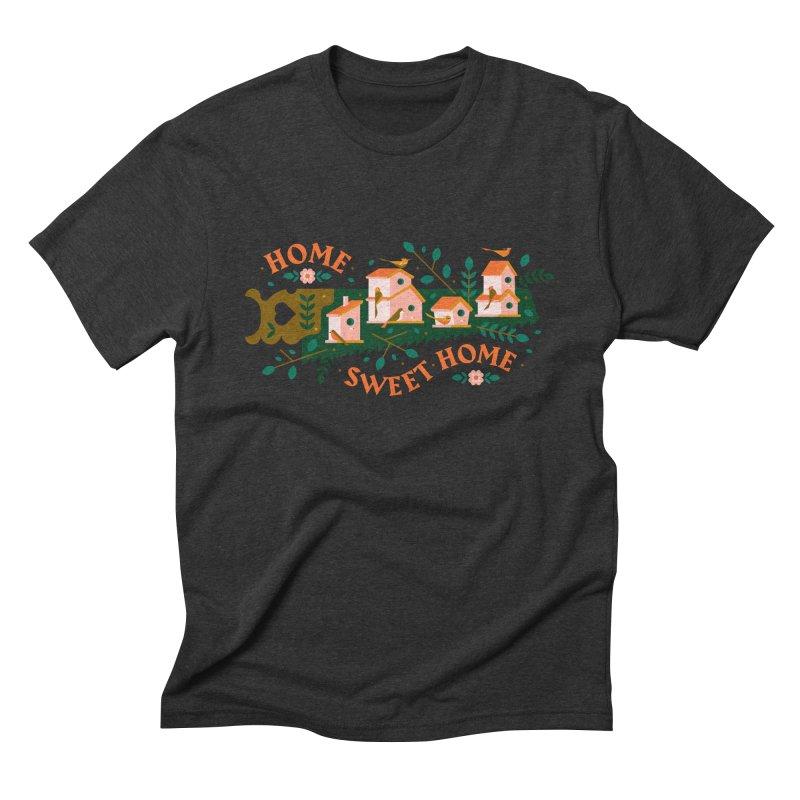 Home Sweet Home Men's Triblend T-Shirt by Brian Rau's Artist Shop
