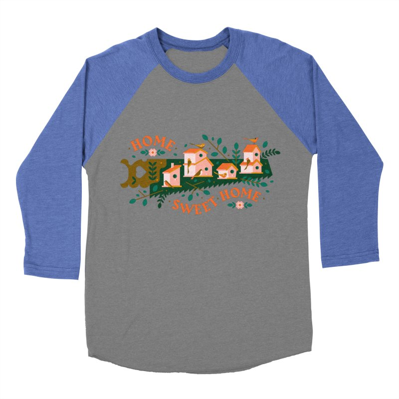 Home Sweet Home Men's Baseball Triblend Longsleeve T-Shirt by Brian Rau's Artist Shop