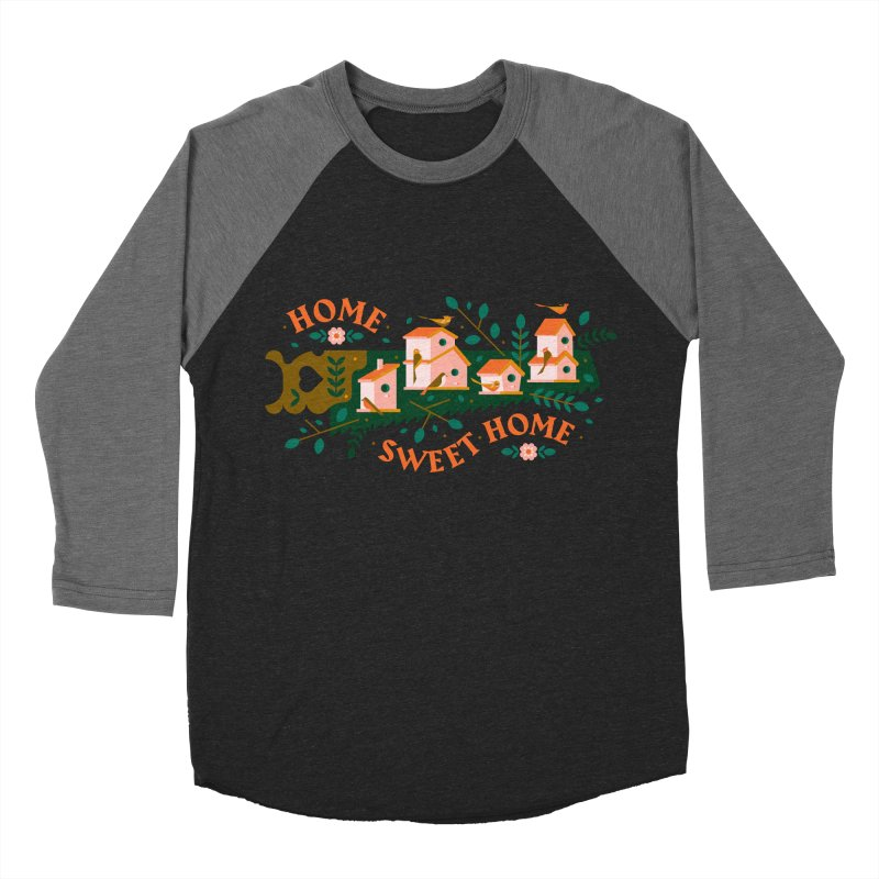 Home Sweet Home Men's Baseball Triblend Longsleeve T-Shirt by Brian Rau's Artist Shop