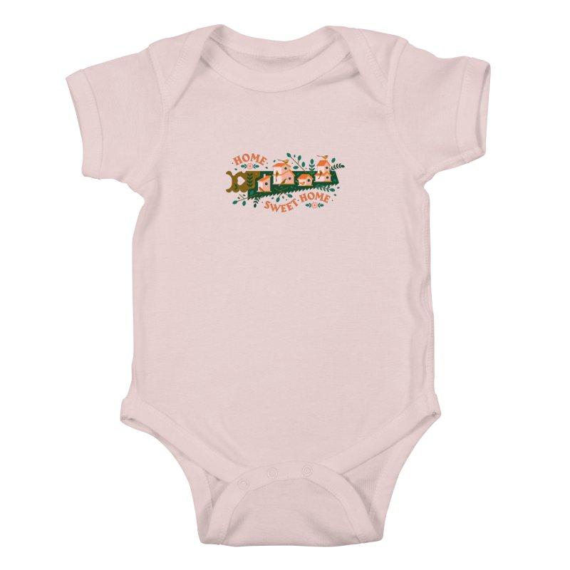 Home Sweet Home Kids Baby Bodysuit by Brian Rau's Artist Shop