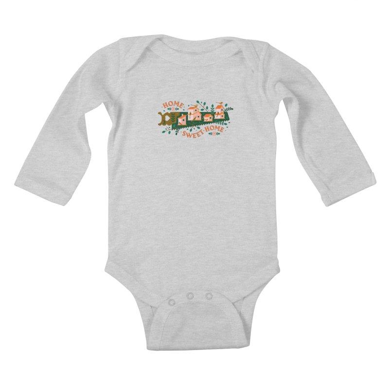 Home Sweet Home Kids Baby Longsleeve Bodysuit by Brian Rau's Artist Shop