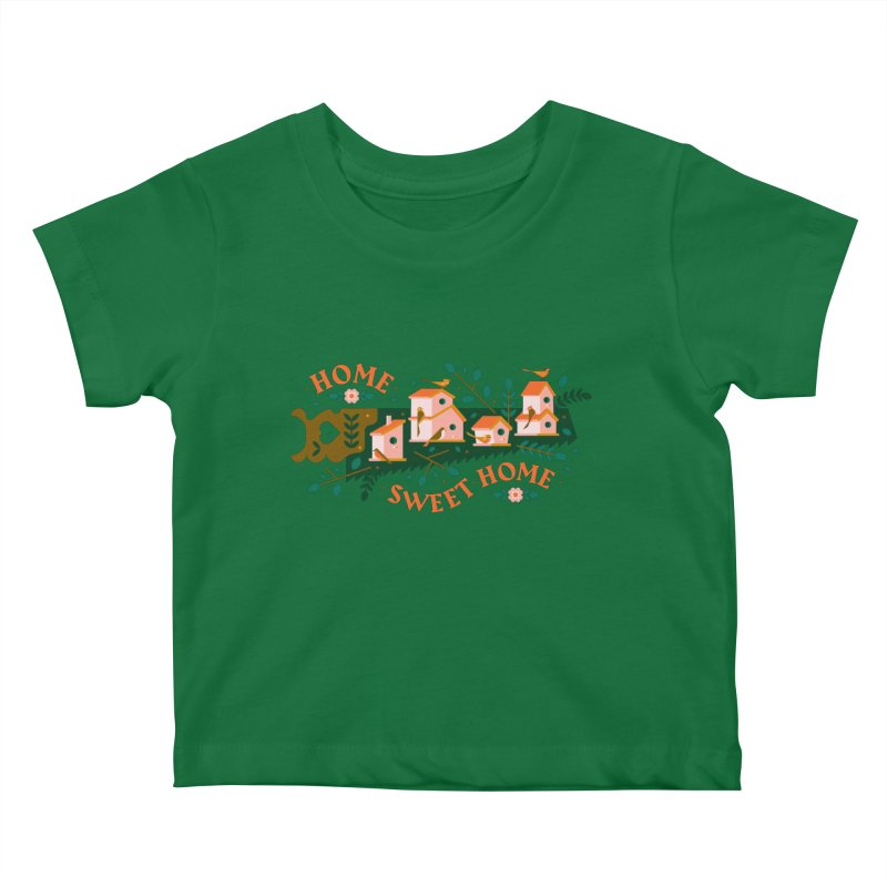 Home Sweet Home Kids Baby T-Shirt by Brian Rau's Artist Shop