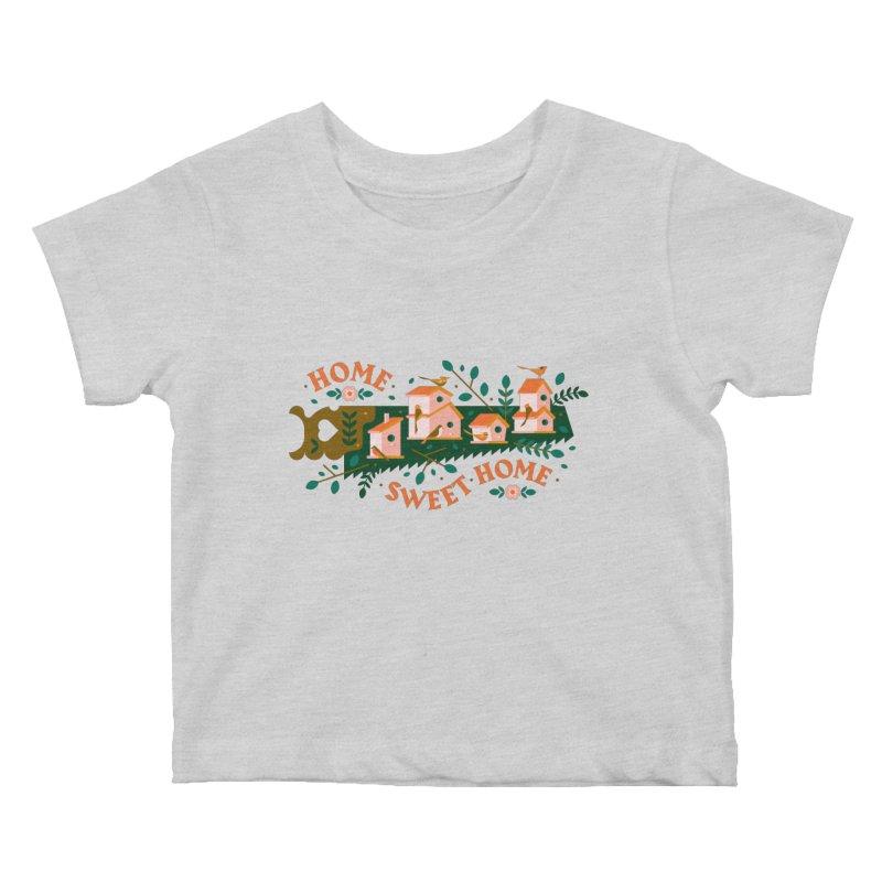 Home Sweet Home Kids Baby T-Shirt by Brian Rau's Artist Shop