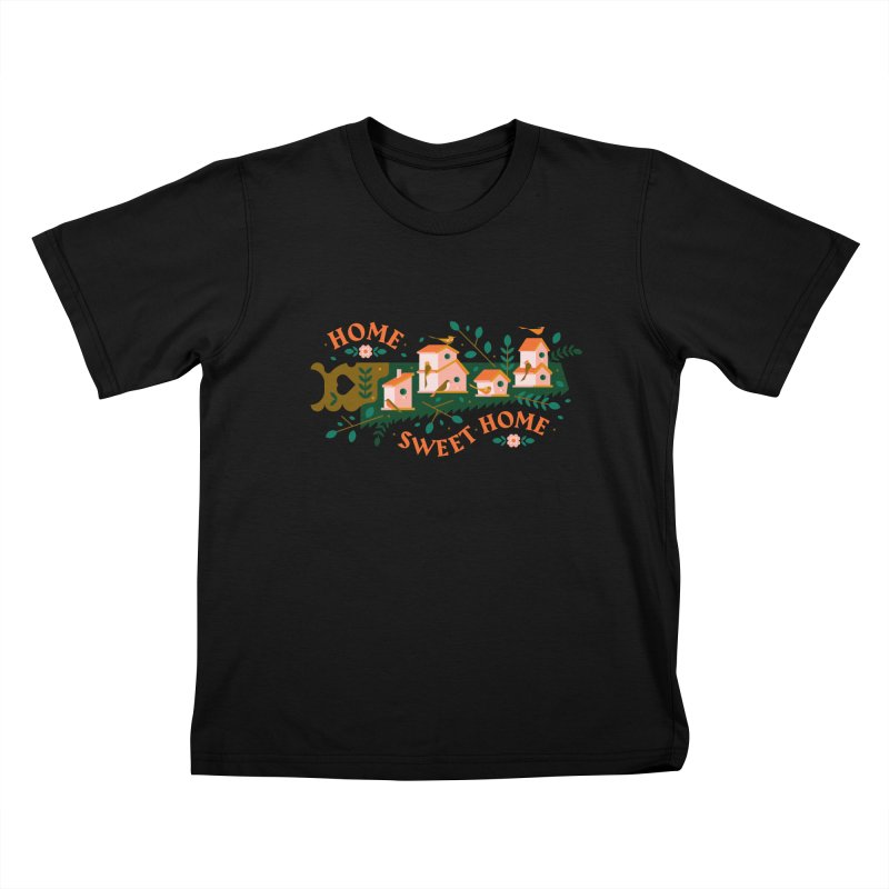 Home Sweet Home Kids T-Shirt by Brian Rau's Artist Shop