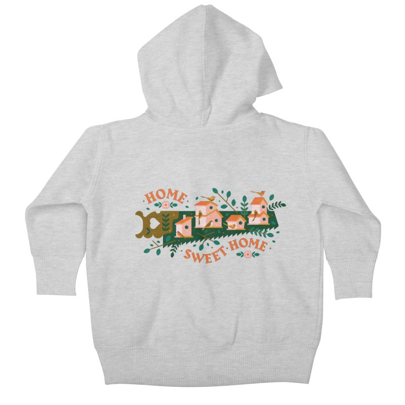Home Sweet Home Kids Baby Zip-Up Hoody by Brian Rau's Artist Shop