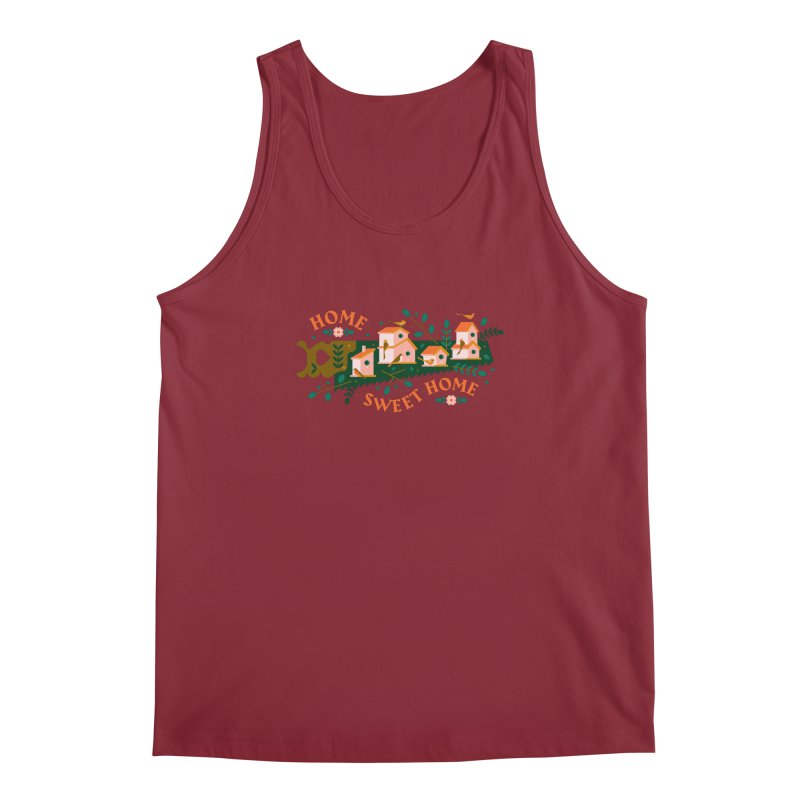 Home Sweet Home Men's Regular Tank by Brian Rau's Artist Shop