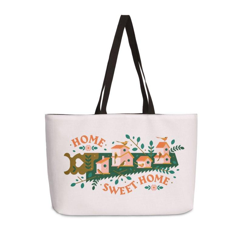 Home Sweet Home Accessories Weekender Bag Bag by Brian Rau's Artist Shop