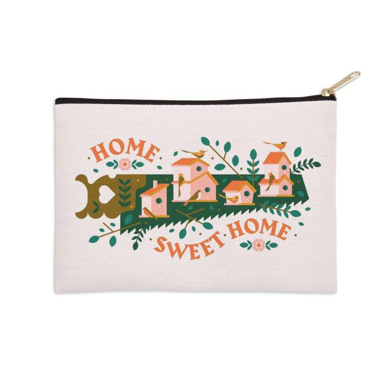 Home Sweet Home Accessories Zip Pouch by Brian Rau's Artist Shop