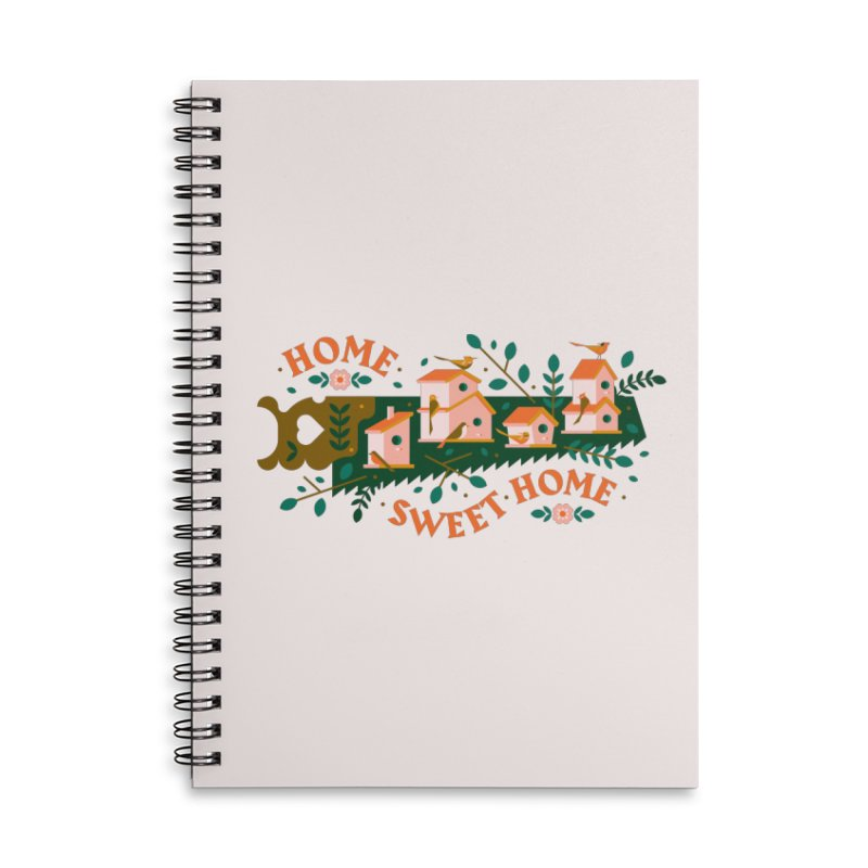 Home Sweet Home Accessories Lined Spiral Notebook by Brian Rau's Artist Shop
