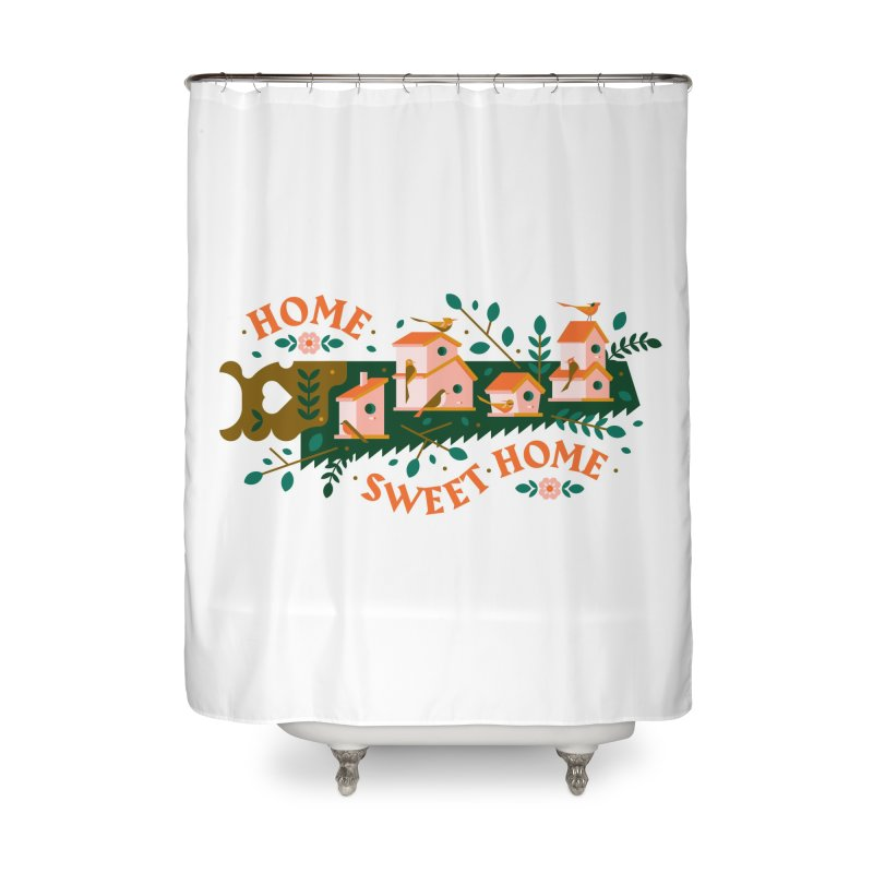 Home Sweet Home Home Shower Curtain by Brian Rau's Artist Shop