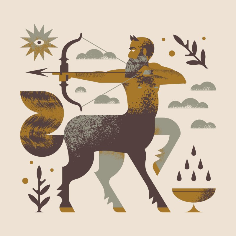 Centaur Home Shower Curtain by Brian Rau's Artist Shop