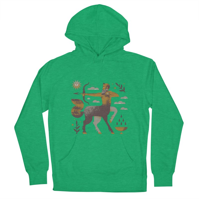 Centaur Men's French Terry Pullover Hoody by Brian Rau's Artist Shop