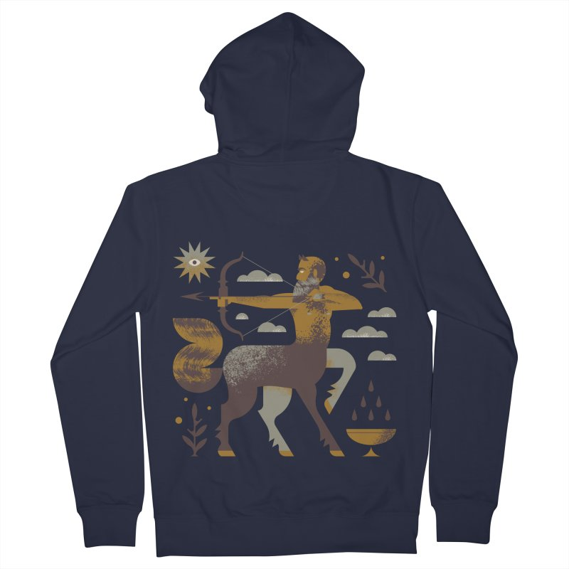Centaur Men's French Terry Zip-Up Hoody by Brian Rau's Artist Shop