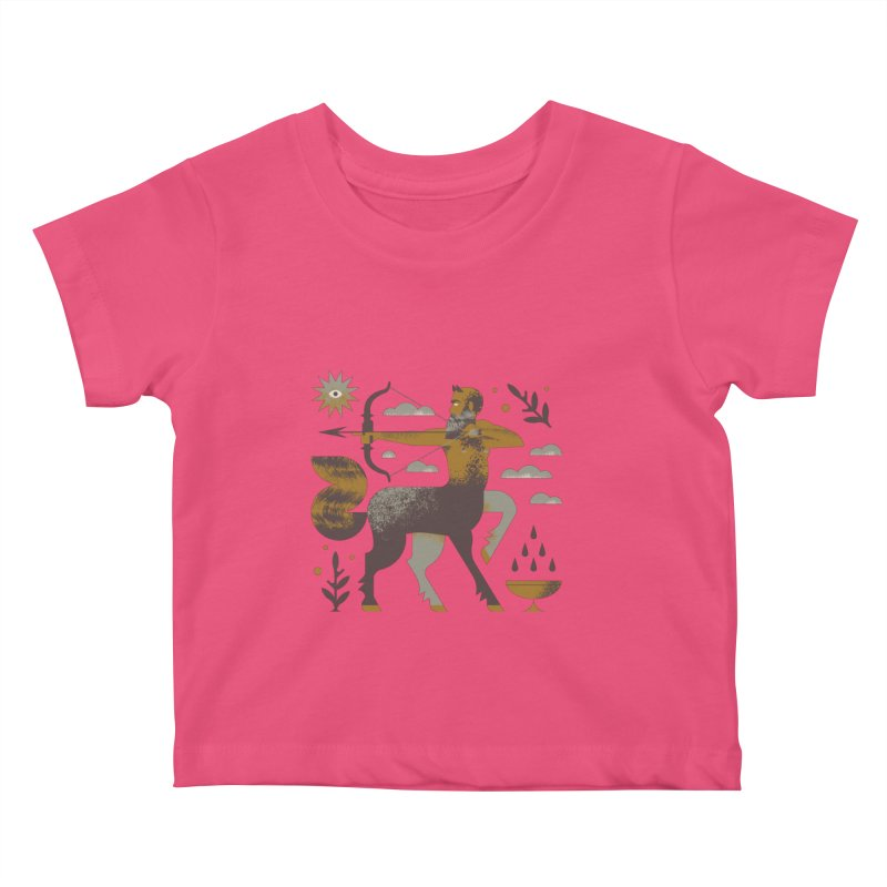Centaur Kids Baby T-Shirt by Brian Rau's Artist Shop