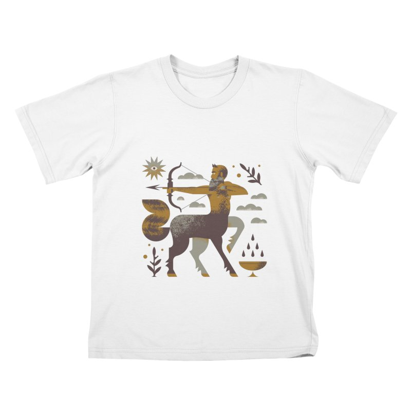 Centaur Kids T-Shirt by Brian Rau's Artist Shop
