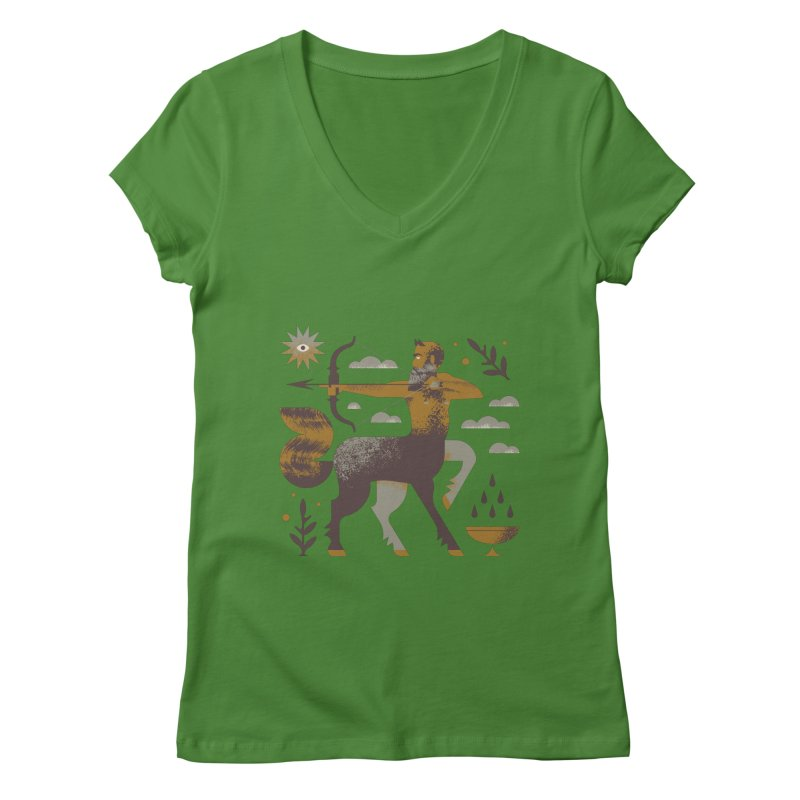 Centaur Women's Regular V-Neck by Brian Rau's Artist Shop