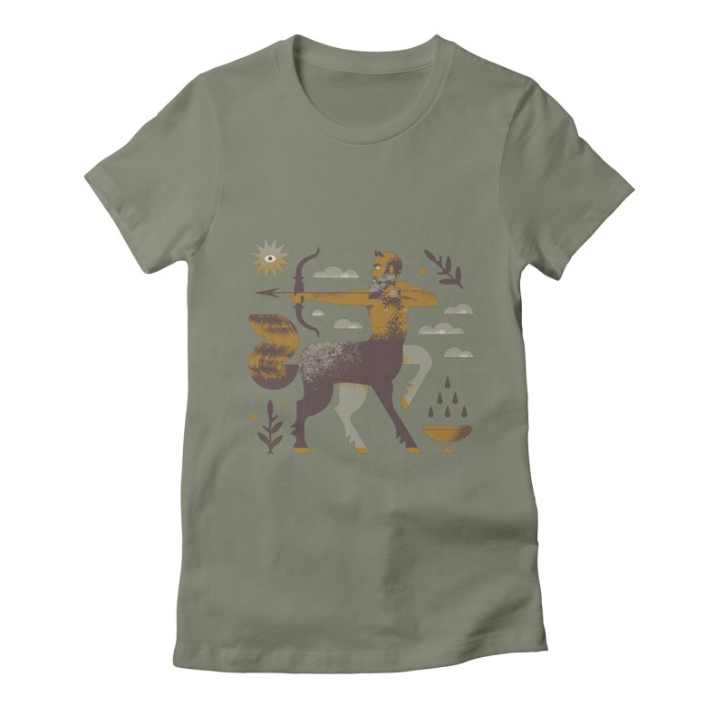 Centaur Women's Fitted T-Shirt by Brian Rau's Artist Shop