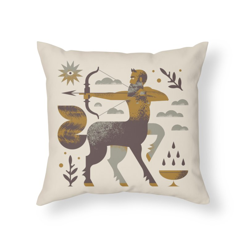 Centaur Home Throw Pillow by Brian Rau's Artist Shop