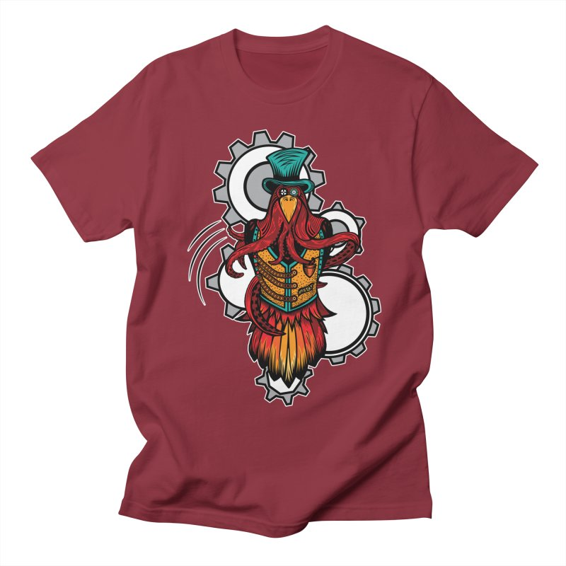 Mind of raven, spirit of octopus. Men's Regular T-Shirt by thebraven's Artist Shop