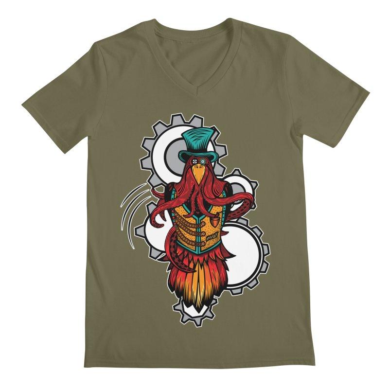 Mind of raven, spirit of octopus. Men's Regular V-Neck by thebraven's Artist Shop