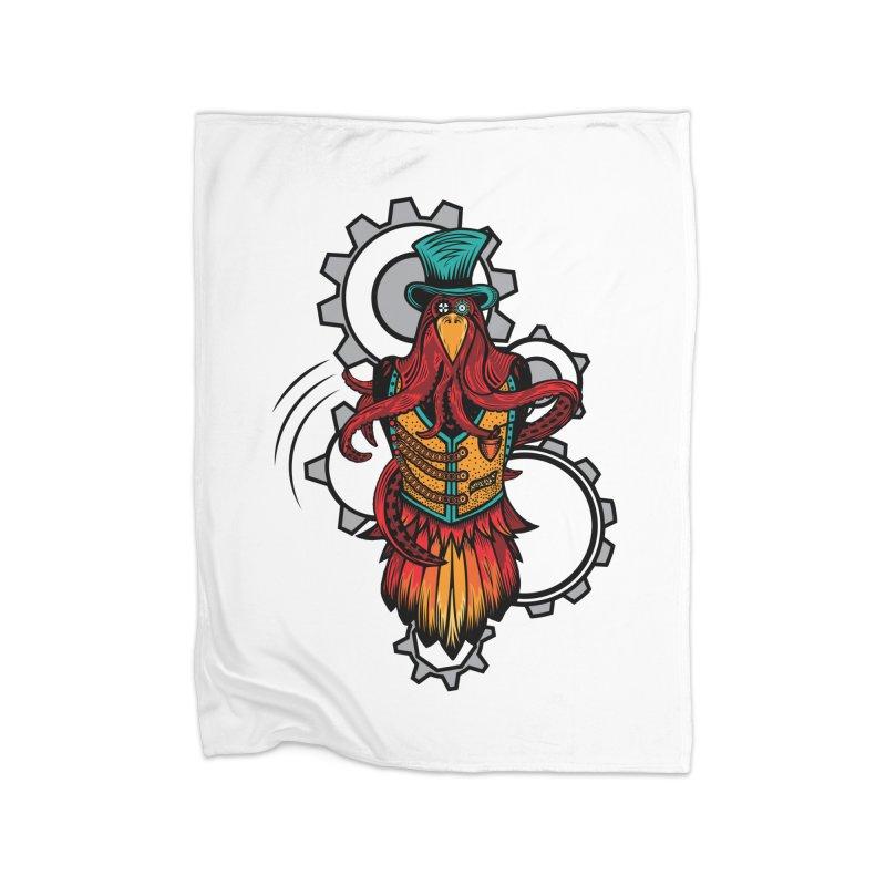 Mind of raven, spirit of octopus. Home Fleece Blanket Blanket by thebraven's Artist Shop