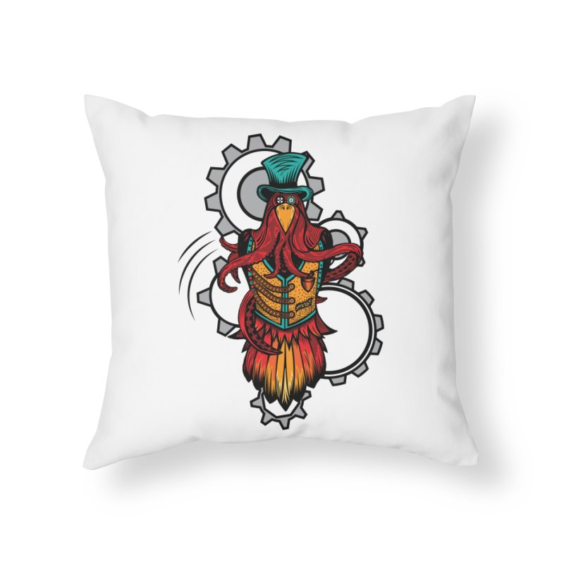Mind of raven, spirit of octopus. Home Throw Pillow by thebraven's Artist Shop