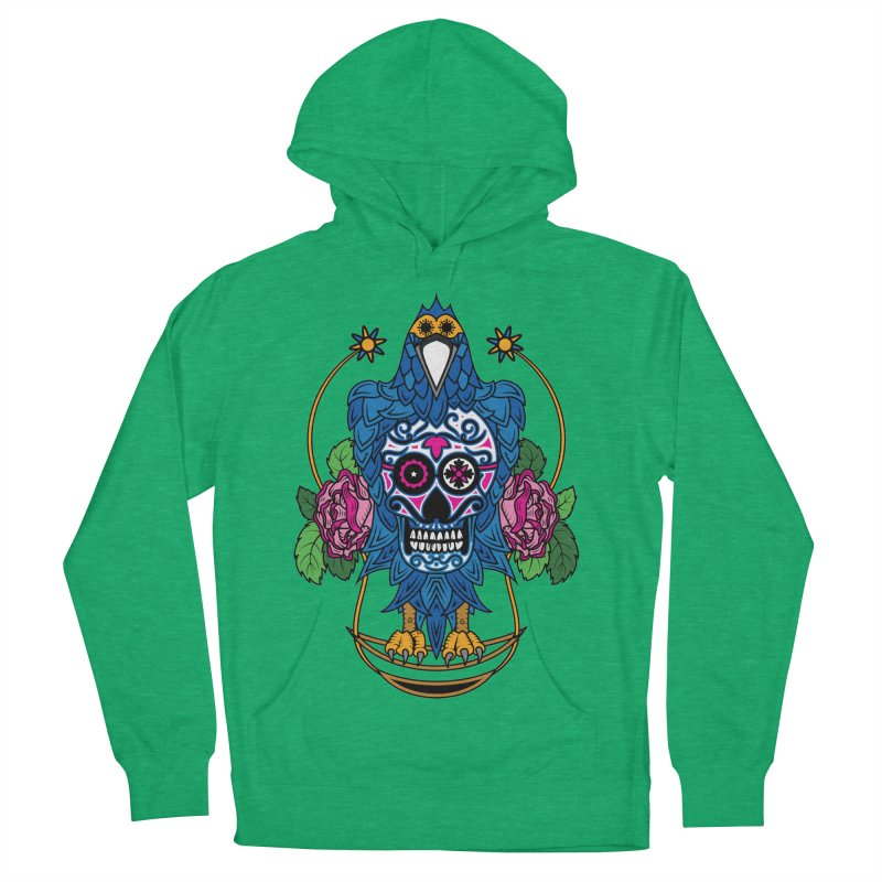 Sugar Raven Skull Women's French Terry Pullover Hoody by thebraven's Artist Shop