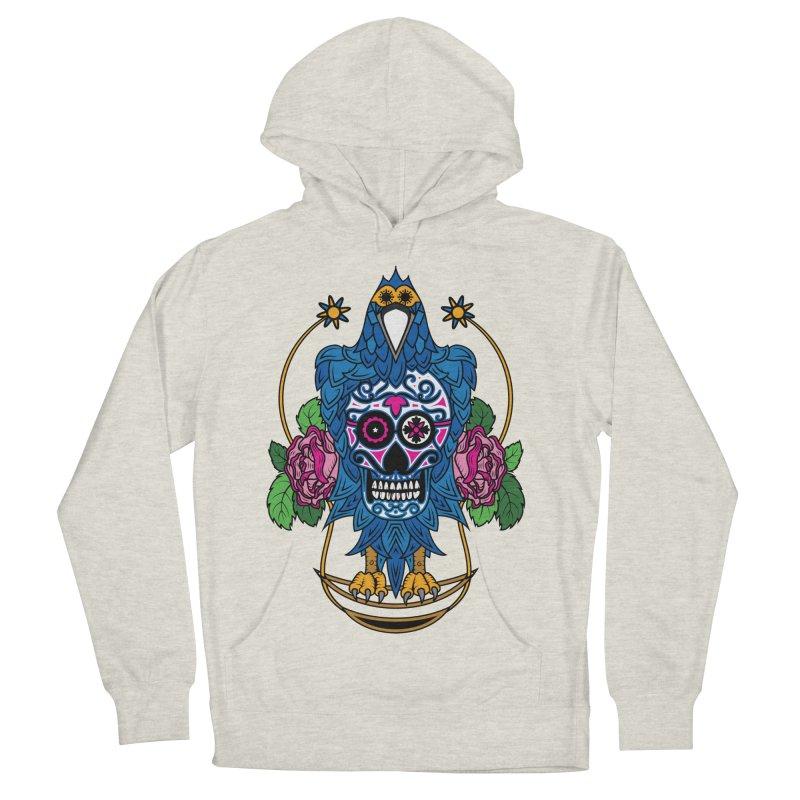 Sugar Raven Skull Men's Pullover Hoody by thebraven's Artist Shop