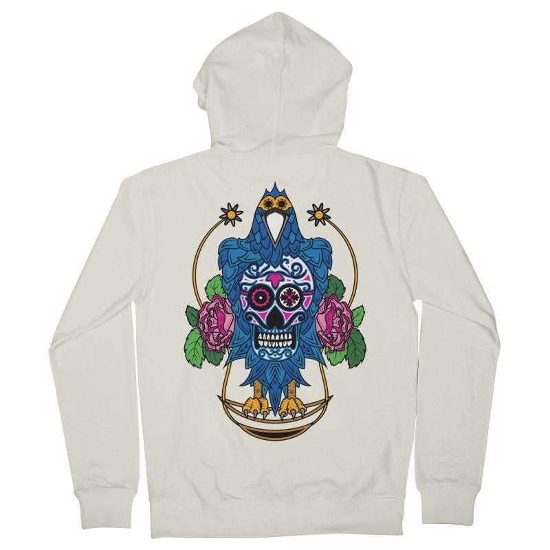 Sugar Raven Skull Men's Zip-Up Hoody by thebraven's Artist Shop