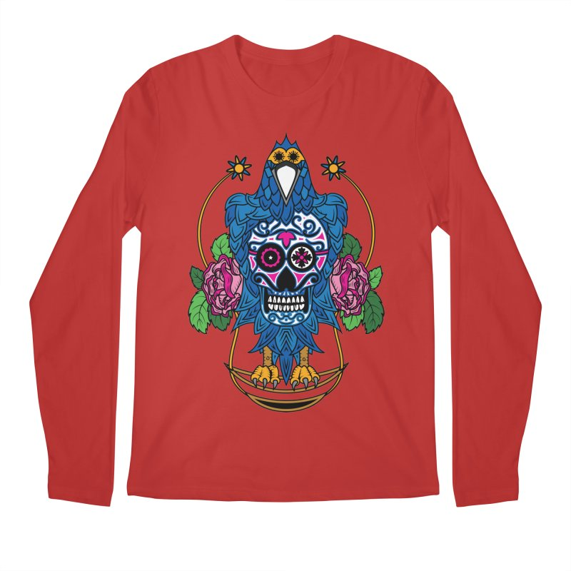 Sugar Raven Skull Men's Longsleeve T-Shirt by thebraven's Artist Shop