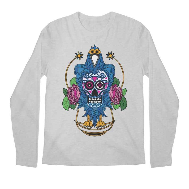 Sugar Raven Skull Men's Longsleeve T-Shirt by thebraven's Artist Shop