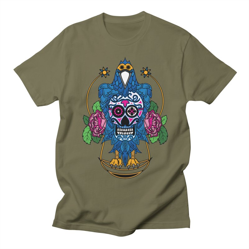 Sugar Raven Skull Men's Regular T-Shirt by thebraven's Artist Shop