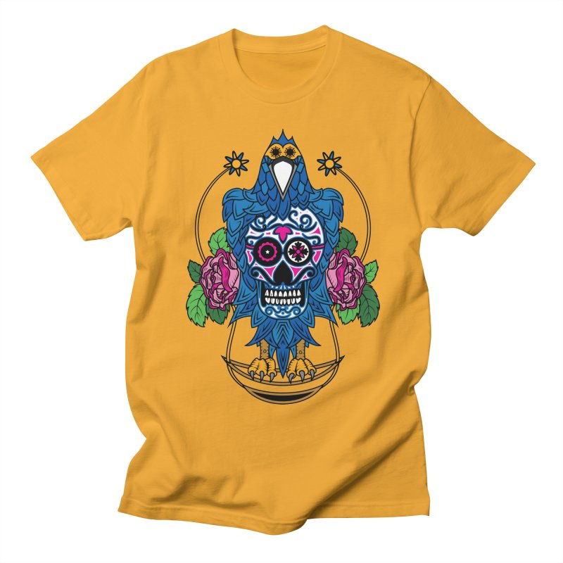 Sugar Raven Skull Men's T-shirt by thebraven's Artist Shop