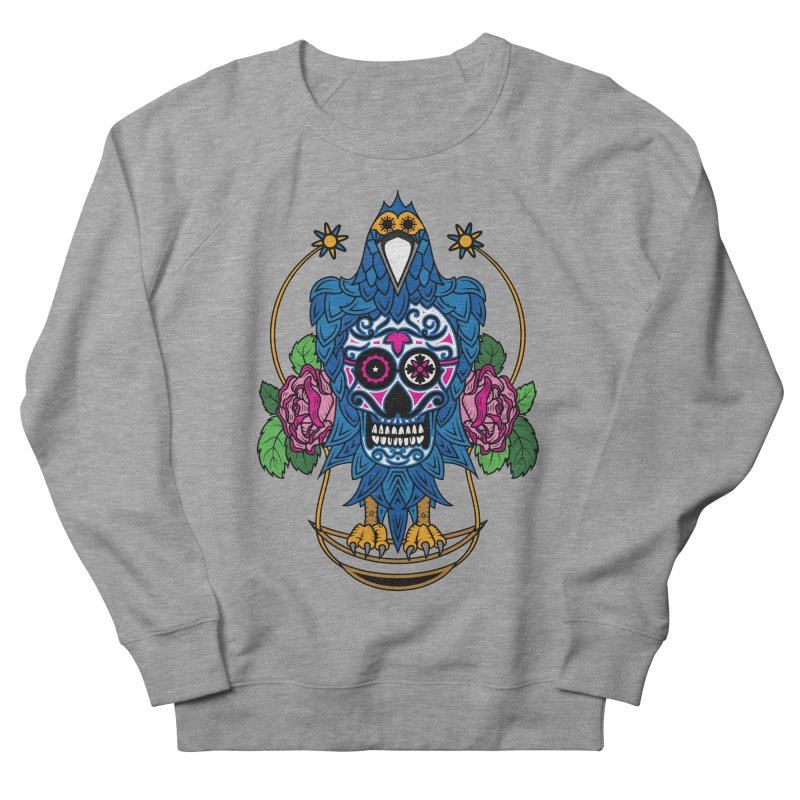 Sugar Raven Skull Women's French Terry Sweatshirt by thebraven's Artist Shop