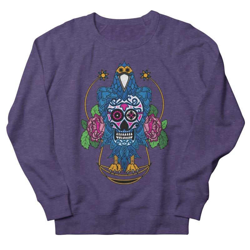 Sugar Raven Skull Men's Sweatshirt by thebraven's Artist Shop