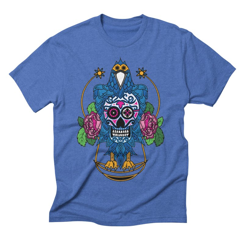 Sugar Raven Skull Men's Triblend T-Shirt by thebraven's Artist Shop