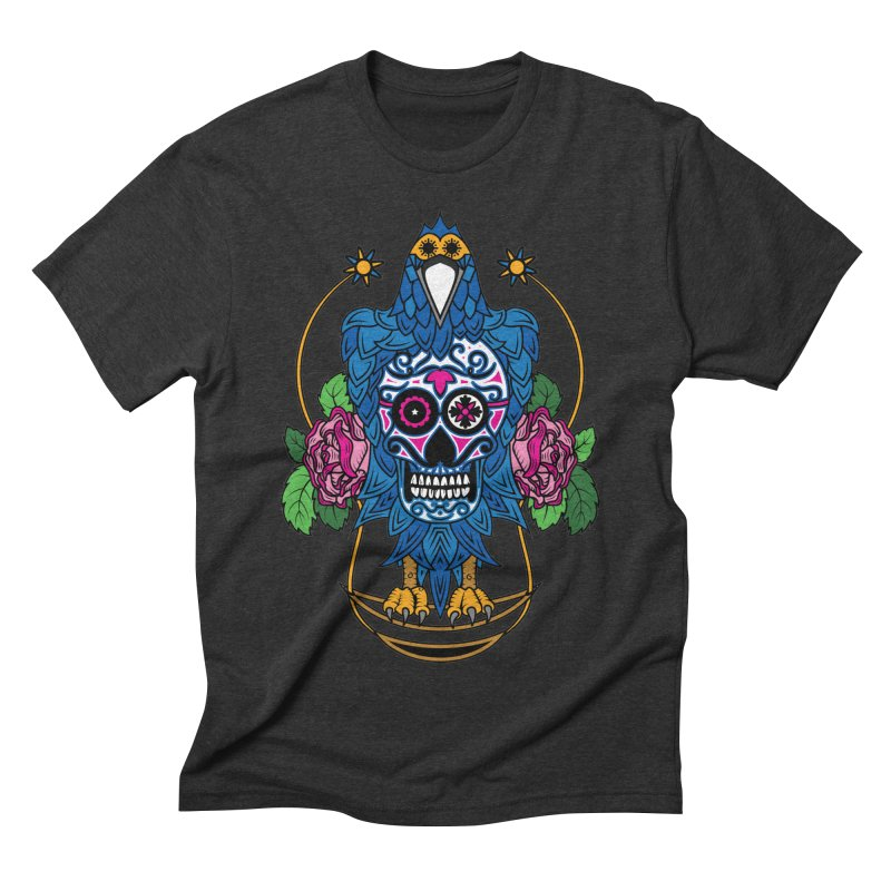 Sugar Raven Skull Men's Triblend T-Shirt by thebraven's Artist Shop
