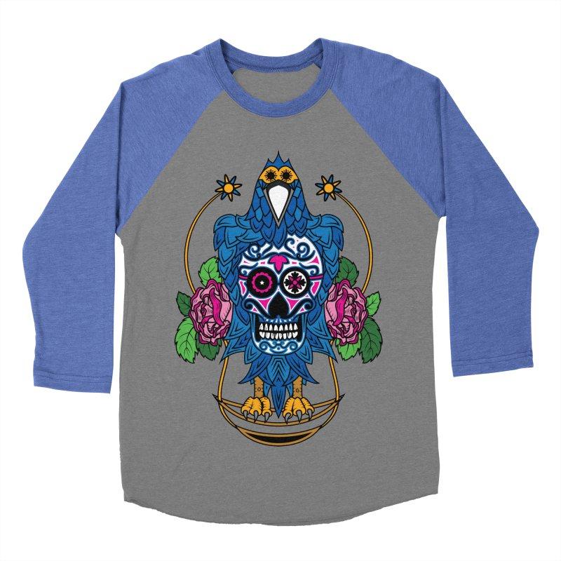 Sugar Raven Skull Women's Baseball Triblend T-Shirt by thebraven's Artist Shop