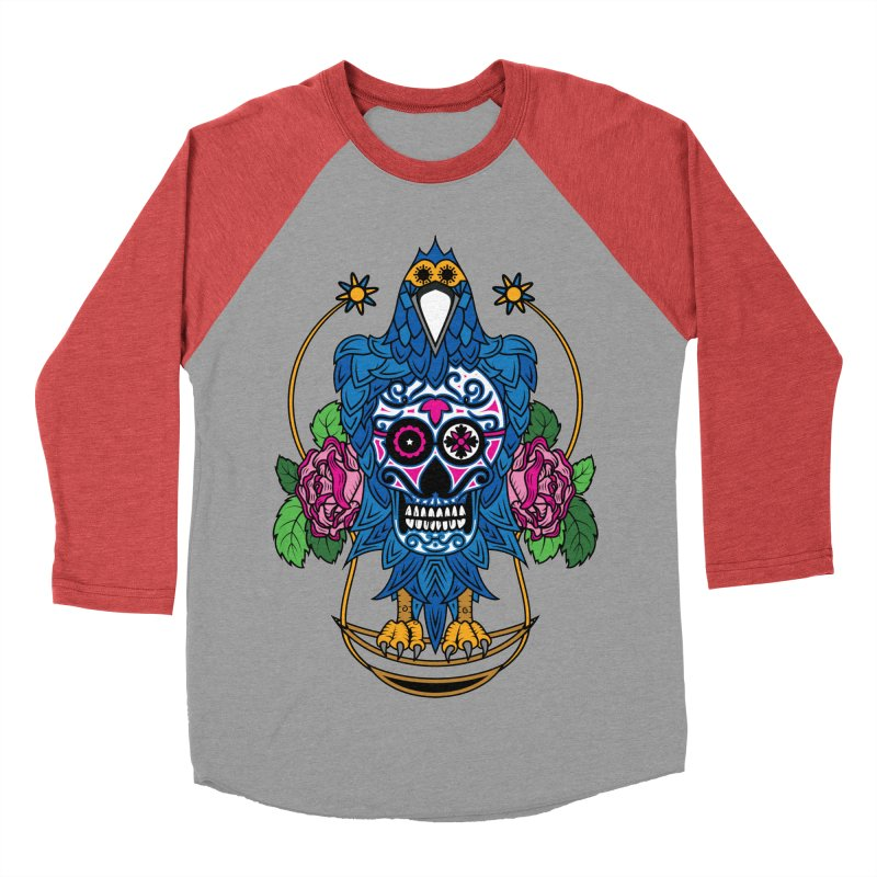 Sugar Raven Skull Women's Baseball Triblend Longsleeve T-Shirt by thebraven's Artist Shop